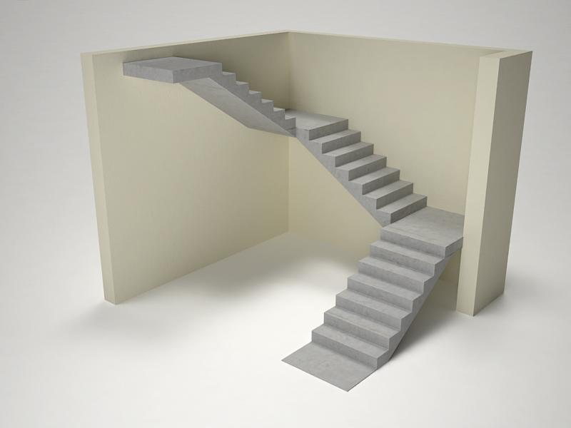 П-образная бетонная лестница в Санкт-Петербурге | П-образная ...